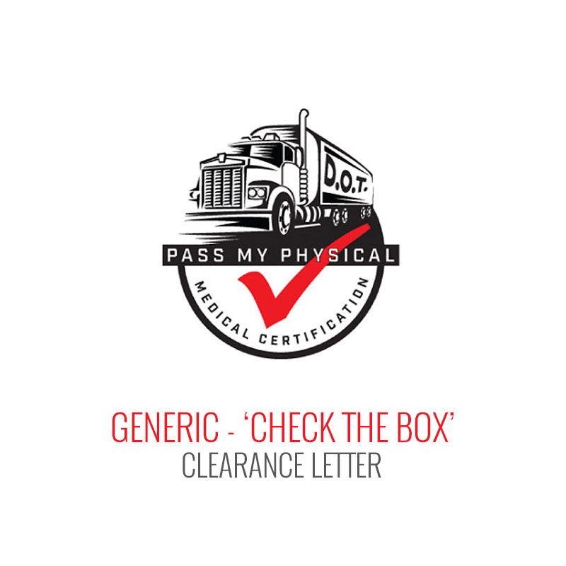 Generic - 'Check the Box' Medical Clearance Letter