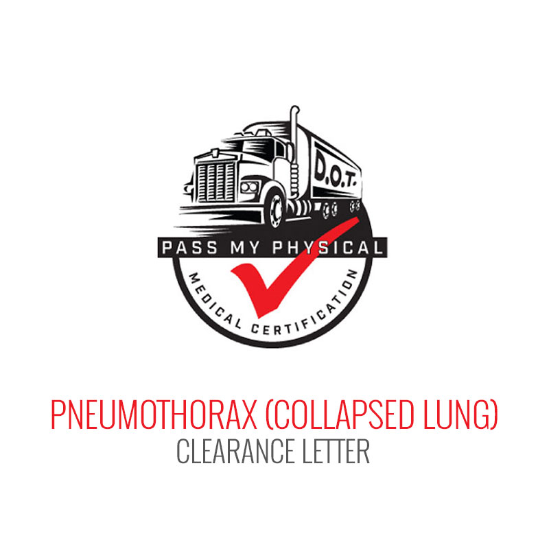 Pneumothorax (Collapsed Lung) Medical Clearance Letter