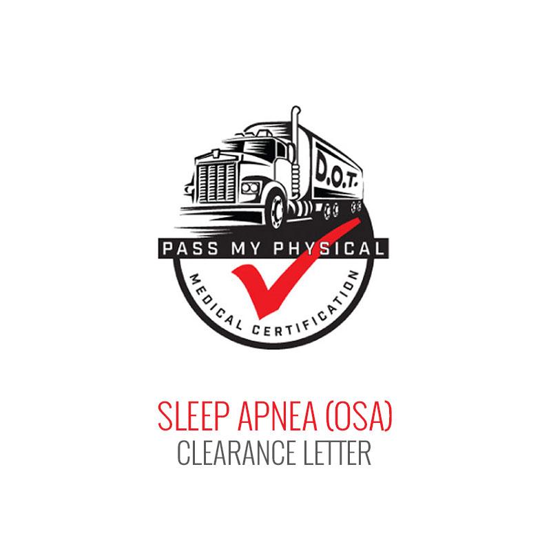 Sleep Apnea (OSA) Medical Clearance Letter